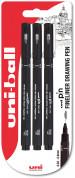 Uni-Ball Pin Drawing Pens - 0.1mm, 0.3mm, 0.5mm