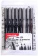 Uni-Ball Pin Drawing Pens - Assorted Colours (Pack of 8)