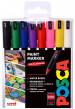 Uni-Ball PC-1MR Posca Ultra Fine Bullet Tip Marker Pens - Starter Colours (Pack of 8)