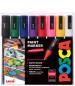 Uni-Ball PC-5M Posca Medium Bullet Tip Marker Pens - Starter Colours (Pack of 8)