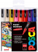 Uni-Ball PC-3M Posca Fine Bullet Tip Marker Pens - Assorted Colours (Pack of 16)