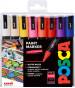 Uni-Ball PC-5M Posca Medium Bullet Tip Marker Pens - Assorted Colours (Pack of 16)