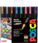 Uni-Ball PC-5M Posca Medium Bullet Tip Marker Pens - Metallic Colours (Pack of 8)