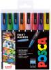 Uni-Ball PC-3M Posca Fine Bullet Tip Marker Pens - Sparkling Colours (Pack of 8)