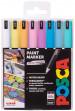 Uni-Ball PC-1MR Posca Ultra Fine Bullet Tip Marker Pens - Pastel Colours (Pack of 8)