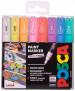 Uni-Ball PC-1M Posca Extra-Fine Bullet Tip Marker Pens - Pastel Colours (Pack of 8)
