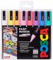 Uni-Ball PC-5M Posca Medium Bullet Tip Marker Pens - Pastel Colours (Pack of 8)