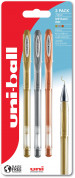 Uni-Ball UM-120NM Signo Gel Ink Rollerball Pens - Decorative Colours (Pack of 3)