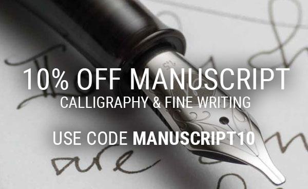 10% Off Manuscript