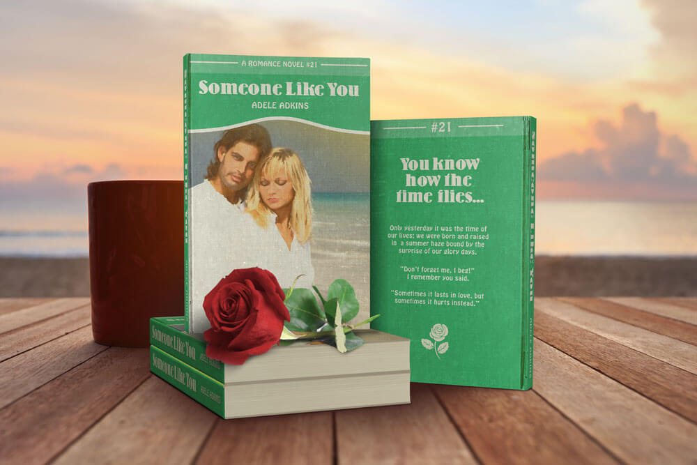 someone like you by adele as book cover