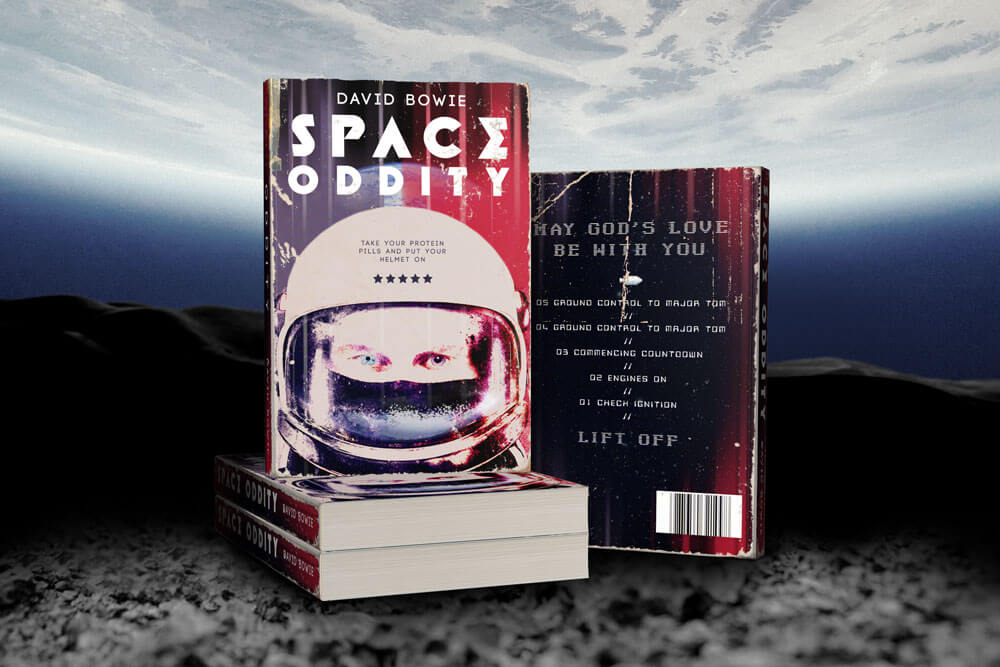 space oddity david bowie reimagined as book cover